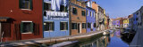 Panoramic View of Canal, Colourful Houses and Reflections, Burano, Venice, Veneto, Italy, Europe Photographic Print by Lee Frost