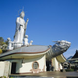 Fukusai-Ji Zen Temple, 18M High Goddess Kannon on Turtle, Nagasaki, Japan Photographic Print by Christopher Rennie