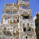 Traditional Multi-Storey House in Sanaa, Yemen Arab Republic Photographic Print by Jj Travel Photography