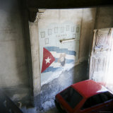 Mural of Camilo Cienfuegos on the Wall of an Apartment Building, Havana, Cuba Photographic Print by Lee Frost