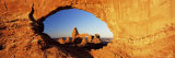 Turret Arch Through North Window at Sunrise, Arches National Park, Moab, Utah, USA Photographic Print by Lee Frost