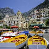 Boats and Waterfront, Positano, Costiera Amalfitana (Amalfi Coast), Campania, Italy Photographic Print by Roy Rainford