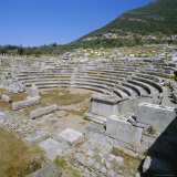 Amphitheatre at Sanctuary of Zeus, Mavromati Ithomi, Peloponese, Greece, Europe Photographic Print by Tony Gervis