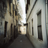 Narrow Street with Whitewashed Houses, Stone Town, Zanzibar, Tanzania, East Africa, Africa Photographic Print by Lee Frost