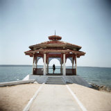 Pagoda Overlooking the Caribbean Sea, Cienfuegos, Cuba, West Indies, Central America Photographic Print by Lee Frost