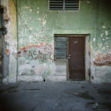 Wall Detail with Graffiti, Cienfuegos, Cuba, West Indies, Central America Photographic Print by Lee Frost