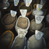 Bags of Spices for Sale in the Market, Stone Town, Zanzibar, Tanzania, East Africa, Africa Photographic Print by Lee Frost