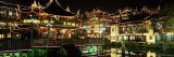 Yu Yuan Tea House and Shops at Night, Yu Yuan Shangcheng, Yu Gardens Bazaar, Shanghai, China, Asia Photographic Print by Gavin Hellier