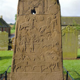 Pictish Stone, Aberlemno, Scotland, UK, Europe Photographic Print by Michael Jenner