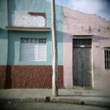 Detail of Painted Walls, Cienfuegos, Cuba, West Indies, Central America Photographic Print by Lee Frost