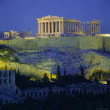 The Parthenon and Acropolis, Unesco World Heritage Site, Athens, Greece, Europe Photographic Print by Tony Gervis
