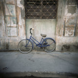 Blue Bicycle Against a Wall, Havana Centro, Havana, Cuba, West Indies, Central America Photographic Print by Lee Frost