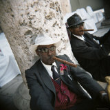 Elderly Men Posing with Cigars, Havana, Cuba, West Indies, Central America Photographic Print by Lee Frost