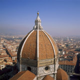 The Dome of the Duomo Santa Maria Del Fiore, Overlooking Florence, Tuscany, Italy Photographic Print by Roy Rainford