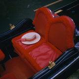 Gondola Seat and Gondolier's Hat, Venice, Veneto, Italy, Europe Photographic Print by Roy Rainford