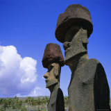 Ahu Nau Nau at Anakena, Easter Island, Chile, Pacific Photographic Print by Geoff Renner