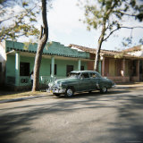 Old Green American Car, Vinales, Cuba, West Indies, Central America Photographic Print by Lee Frost