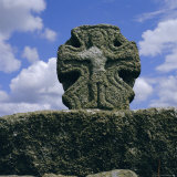 Celtic Crosshead, St. Buryan, Cornwall, England, UK, Europe Photographic Print by Michael Jenner