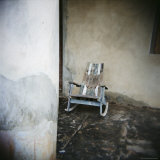 Old Wooden Chair on Porch, Vinales, Cuba, West Indies, Central America Photographic Print by Lee Frost