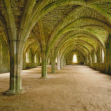Cistercian Refectory, Fountains Abbey, Yorkshire, England Photographic Print by Michael Jenner
