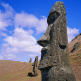 Volcan Rano Raraku, Southern Slope, Birthplace of Countless Moai, Easter Island, Chile Photographic Print by Geoff Renner
