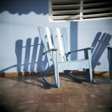 Blue and White Chair Outside House, Vinales, Cuba, West Indies, Central America Photographic Print by Lee Frost