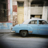Old Blue Car, Cienfuegos, Cuba, West Indies, Central America Photographic Print by Lee Frost