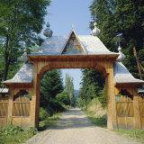 Typical Moldavian Gateway, Horaita Monastery, Moldavia, Romania Photographic Print by Christopher Rennie