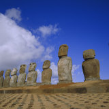 Ahu Tongariki, Easter Island, Chile, Pacific Photographic Print by Geoff Renner