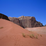 Red Sand Dune and Desert Landscape, Wadi Rum, Jordan Photographic Print by Christopher Rennie