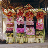 Offerings, Temple Festival Near Mengwi, Bali, Indonesia, Asia Photographic Print by James Green