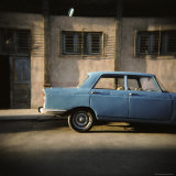 Old Blue Soviet Car, Havana, Cuba, West Indies, Central America Photographic Print by Lee Frost