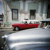 Old American Cars Operating as Private Taxis, Havana, Cuba, West Indies, Central America Photographic Print by Lee Frost