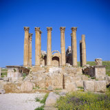 Temple of Artemis, 1st Century AD, of the Roman Decapolis City, Jerash, Jordan, Middle East Photographic Print by Christopher Rennie