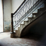 Ornate Ironwork on Stairs, Cienfuegos, Cuba, West Indies, Central America Photographic Print by Lee Frost