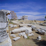 Temple of Apollo, Corinth (Korinthos), Greece, Europe Photographic Print by Tony Gervis