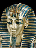Tutankhamun's Funeral Mask in Solid Gold Inlaid with Semi-Precious Stones, Thebes, Egypt Photographic Print by Robert Harding