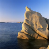 Wind Eroded Granite Rock, Costa Smeralda, Sardinia, Italy, Mediterranean, Europe Photographic Print by John Miller