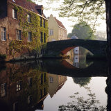 Canal Reflections, Bruges, Belgium Photographic Print by Roy Rainford