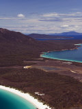 White Sand Beach of Wineglass Bay, Freycinet National Park on the Peninsula, Tasmania, Australia Photographic Print by Chris Kober