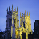 York Minster Floodlit, York, Yorkshire, England, UK, Europe Photographic Print by Roy Rainford