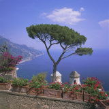 Villa Rufolo, Ravello, Costiera Amalfitana (Amalfi Coast), Campania, Italy Fotografisk tryk af Roy Rainford