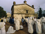 Pilgrims at the Easter Festival, St. Mary of Sion, Axoum (Axum), Tigre, Ethiopia Photographic Print by J P De Manne