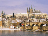 Prague Castle, Charles Bridge, Vltava River and Suburb of Mala Strana, Prague, Czech Republic Photographic Print by Richard Nebesky