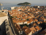 Old Town Houses, City Walls, Lokrum Island, Croatia, Adriatic Photographic Print by Chris Kober