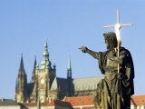Statue of St. John the Baptist, Dating from 1857, on Charles Bridge, Prague, Czech Republic Photographic Print by Richard Nebesky