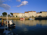 The Harbour and Quai Clemenceau, Saint Clement Village, Ile De Re, Charente Maritime, France Photographic Print by J P De Manne