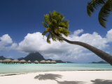 Pearl Beach Resort, Bora-Bora, Leeward Group, Society Islands, French Polynesia Lámina fotográfica por Sergio Pitamitz
