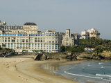 The Beach with the Congress Center in the Background, Biarritz, Cote Basque, Aquitaine, France Photographic Print by Robert Harding