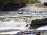Lower Aysgarth Falls and Autumn Colours, Near Hawes, Wensleydale, Yorkshire, England Photographic Print by Neale Clarke